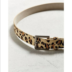 Urban Outfitters leather leopard Belt NWT